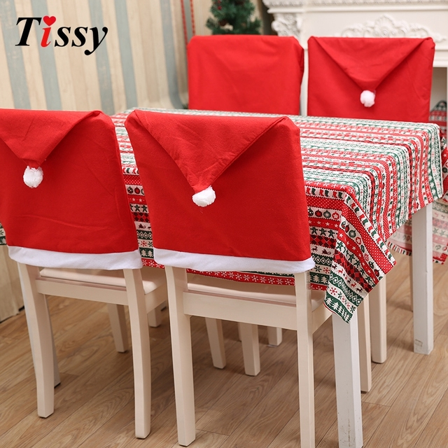 party decorations chair covers wedding cover hire belfast 1pc christmas santa claus dining seat diy home decor