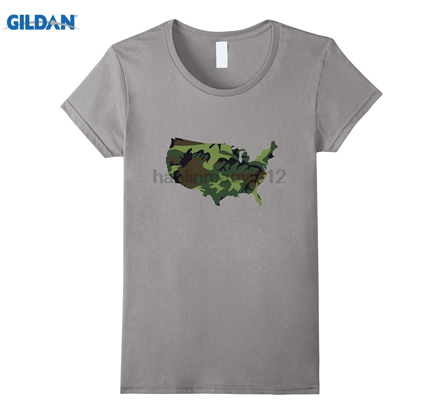 GILDAN Camo Camouflage USA Map t-shirt sunglasses women T-shirt