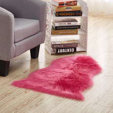 Multi Color Imitation Sheepskin Wool Area Rugs and Carpet for Living Room Soft Shaggy Warm Rugs Chair Cover Home Floor Mats