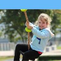Rope Ladder Swing Set Children Outdoor Rubber Base Garden Amusement Park Euipment Climb Play Rope Swing