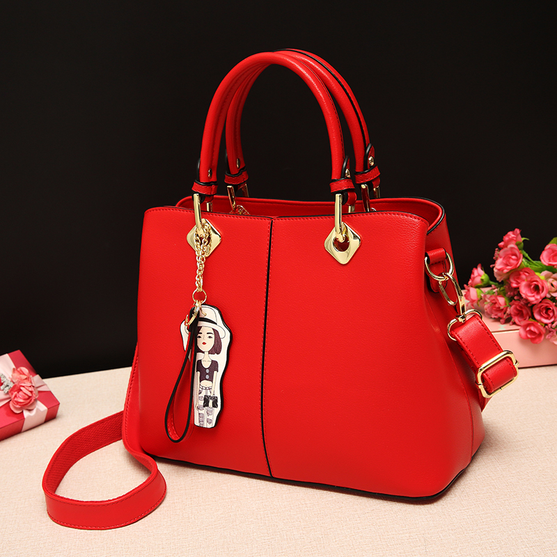 Red bag, female 2018, spring and summer, new wedding bag, handbag, bridesmaid, bag, single bag, shoulder bag, satchel.
