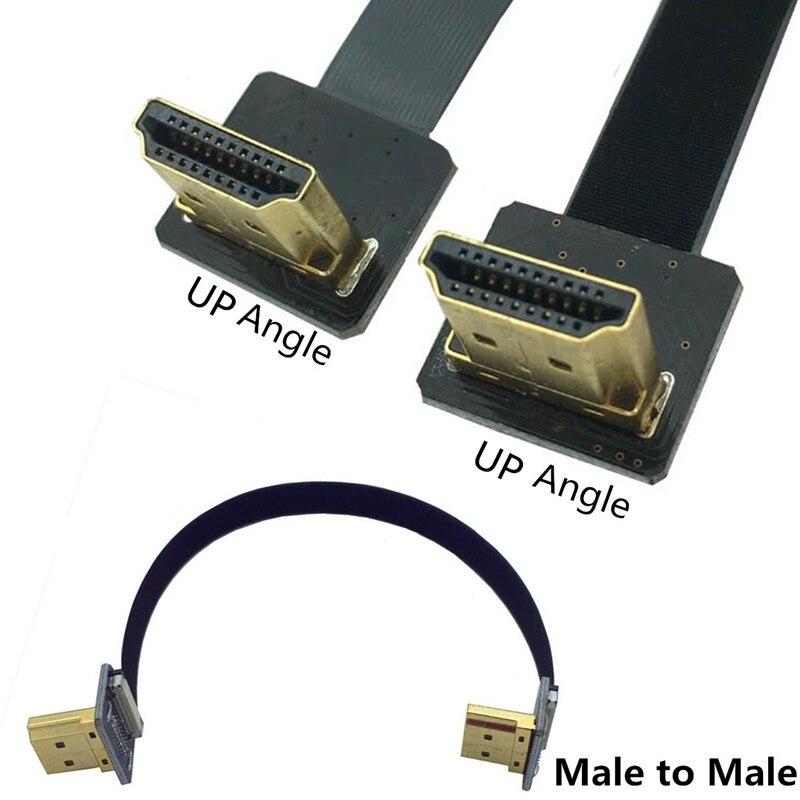 FPV HDMI 90 градусов угловой адаптер до 5 см-100 см FPC плоский HDMI кабель шаг 20pin для мультикоптера аэрофотосъемки