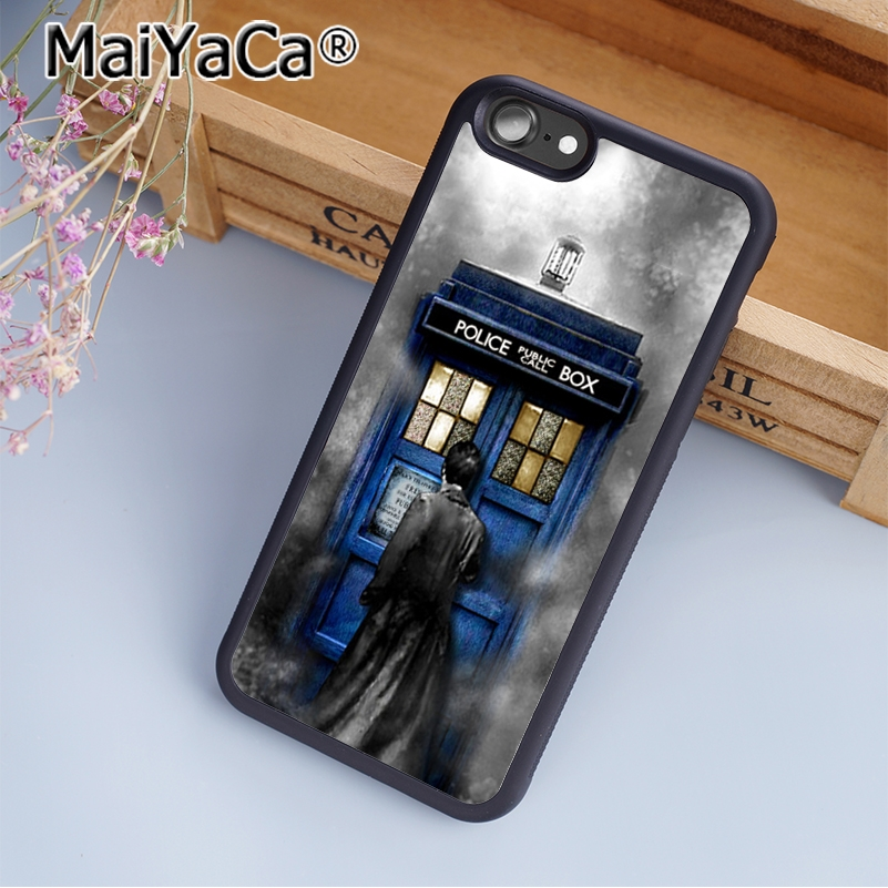 Fitted Cases Maiyaca Hot Tardis Doctor Dr Who Police Box Phone Case Cover For Iphone 5 5s 6 6s 7 8 Plus X Soft Case For Samsung S7 Edge Case