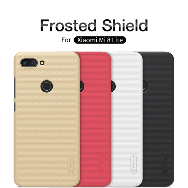 timeless design e9537 6ad5c US $7.99 5% OFF|Case For xiaomi mi 8 Lite Original NILLKIN Matte Frosted  Shield Back Cover For xiaomi mi 8 Lite Case Cover with retail package-in ...