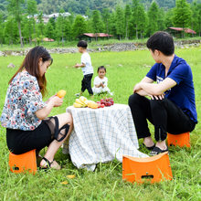 Multifunctional ultra-light plastic folding stool portable outdoor camping stool travel fishing stool thickening child stool(China)