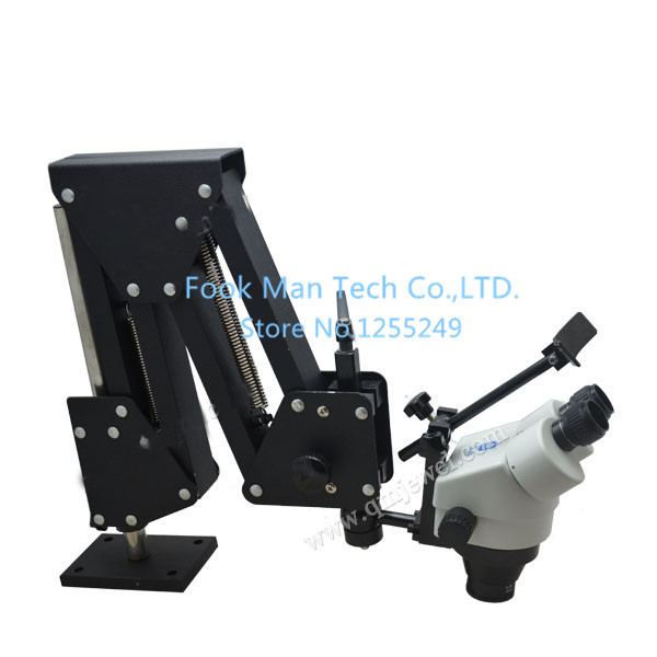 Promotion 7X-45X Stereo Microscope with lens and stand high quality microscope for jewelers with 1 led ring lamp toyzy