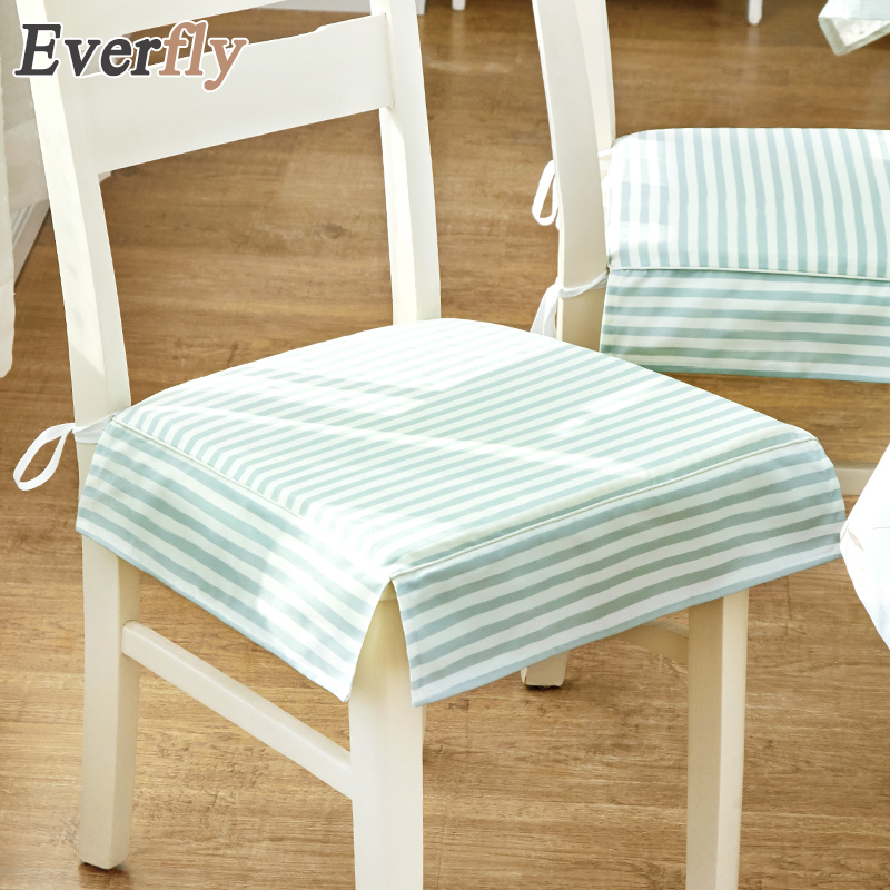 Nordic Blue Striped Polyester Non Slip Chair Cushion Seat Pad Removable/ Washable Outdoor Chair Cushion With Border Chair Seat In Cushion From Home  U0026 Garden ...