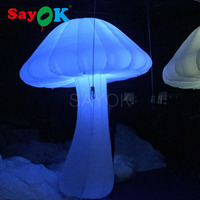Giant Inflatable Mushroom 3m High With16 Color Led Lights For Event Wedding Party Decor