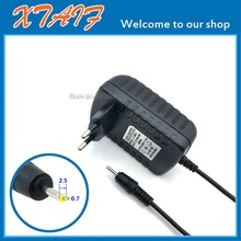 9V 2.5A Wall Home Charger EU Plug for PiPo M2 M3 M6 Pro M6 M8 3G Tablet Power Supply Adapter DC 2.5x0.7mm / 2.5*0.7mm
