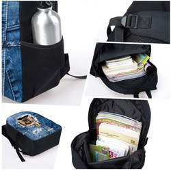 Twoheartsgirl dostosowane rekina plecak dla nastoletnich dziewcząt chłopców torby szkolne dla dzieci Kid lekki książka zestaw torba plecak szkolny 5