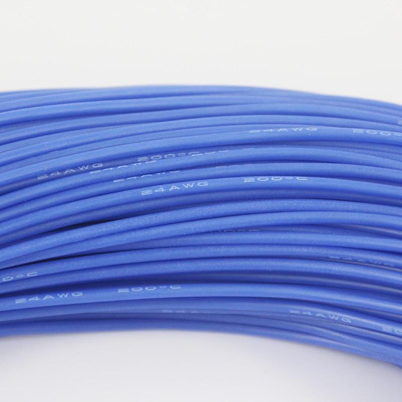 100m Silicon Wire 24AWG Heatproof 200 degree Soft Silicone Silica ...