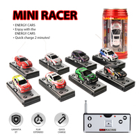 10pcs/Lot Coke Can Mini RC Car Radio Remote Control Micro Racing Cars Racing Car Toy Vehicle Remoto Electronic Kid's Toys Gift