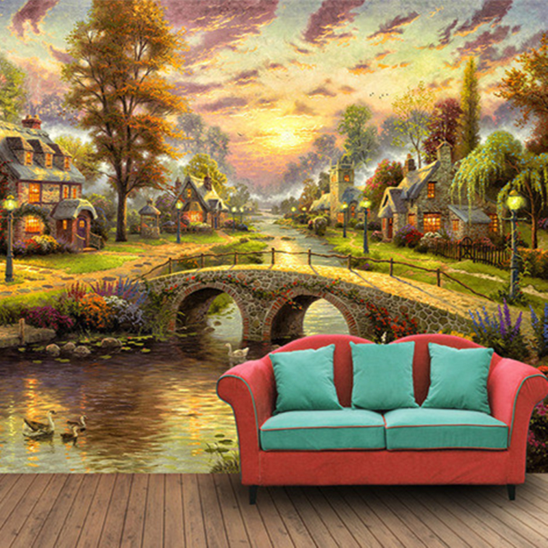 Can Be Customized Large Scale Mural 3d Wallpaper Wall: Custom European Large Scale Murals Landscape Painting