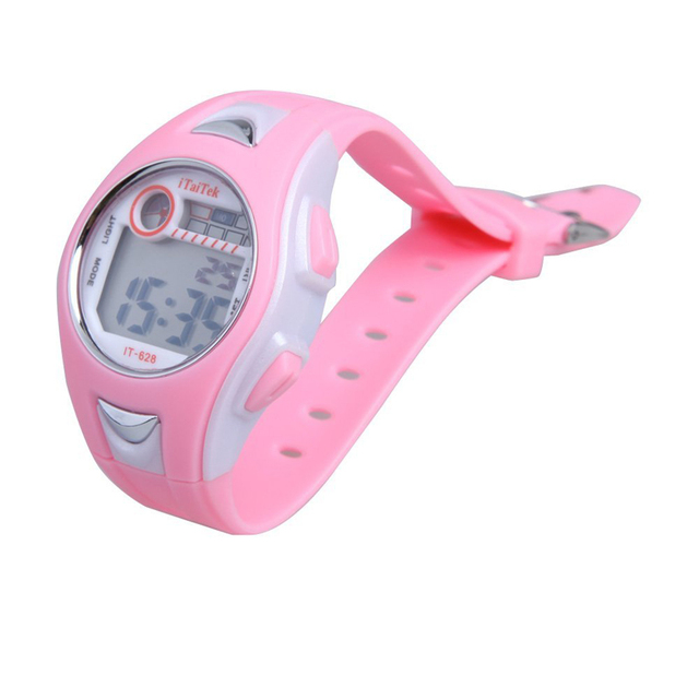 2018 Swimming Sports Digital Wrist Watch Waterproof Pink Children Boys Girls D03