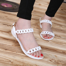 2019 New Women's Plastic Chain Beach Shoes Candy Color Jelly Chain Flat Open Toe Holiday Sandals Plus Size Sandals denon avr x1200w