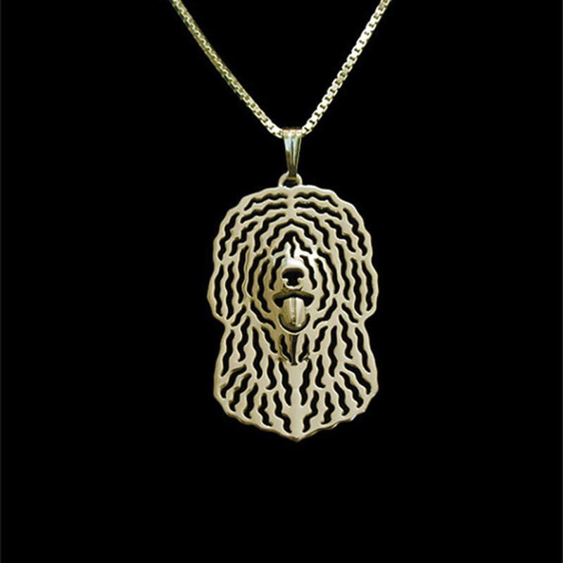 drop shipping Spanish Water Dog jewelry Silver/Gold Necklaces & Pendants For Women Casual Jewelry Charms Dog Necklace