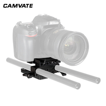 CAMVATE  Manfrotto Quick release Connect Adapter With Sliding Mounting Plate&15mm Rod Clamp For Manfrotto 577/501/504/701 Tripod