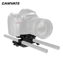 CAMVATE быстрого доступа Manfrotto соединяющий адаптер, комплектующие детали для автомобиля с раздвижными монтажной панелью и 15 мм стержневой зажим для Manfrotto 577/501/504/701 штатив Трипод