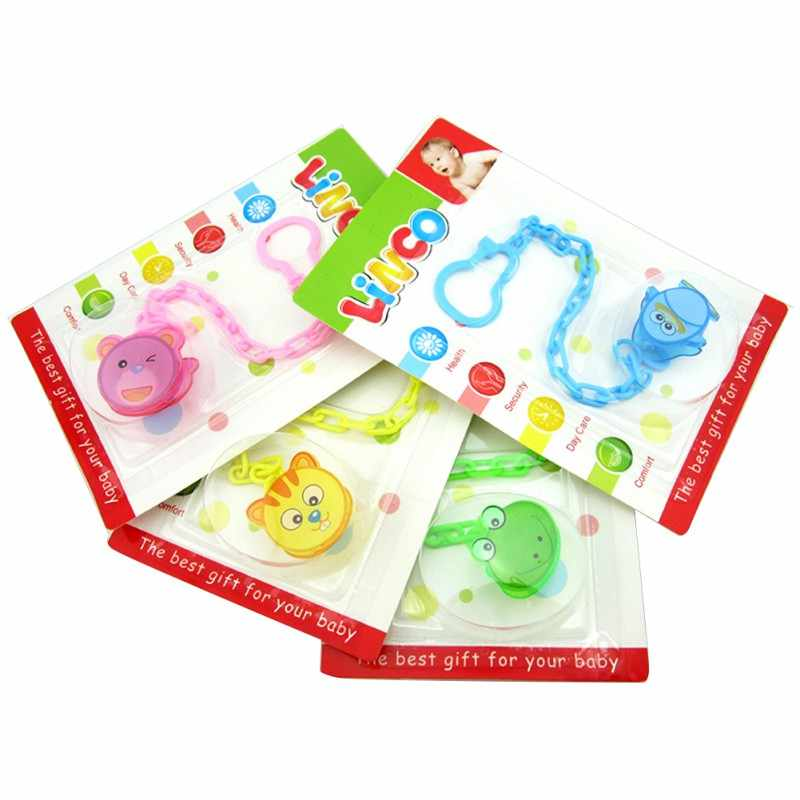 2017 Baby Cute Chain Soothers Clip Holder Feeding Product Animal Cartoon Pacifier Anti Lost Infant Pacifier P1