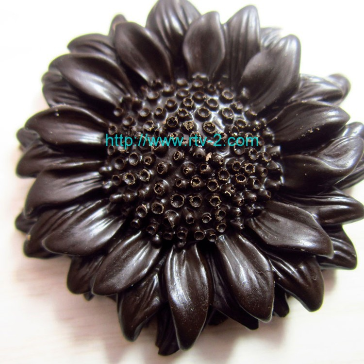 C1023 sunflower silicone mold Cake decoration tool mini Cake mould round silicone mold BK