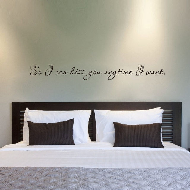 Free shipping Romantic quote wall stickers bedroom decor , Vinyl ...