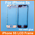 20 PCS Front LCD Frame With Hot Melt for iPhone 5s Touch Screen Display Bracket Housing Middle Bezel White/Black