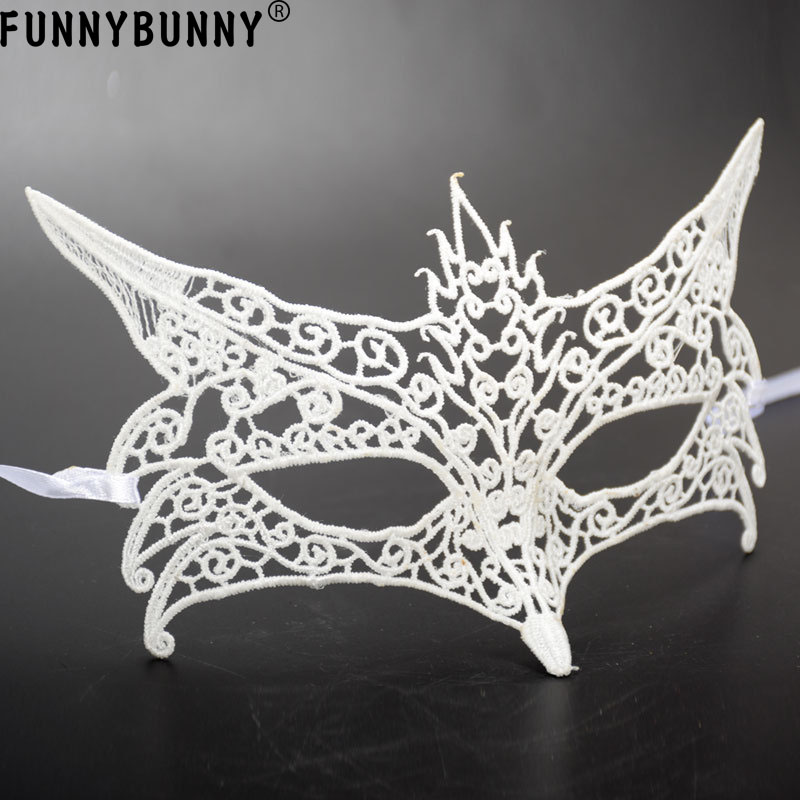 FUNNYBUNNY Fox Halloween Eye Soft Lace Mask Goth Fancy Dress Costume Ball Party in Party Masks from Home Garden