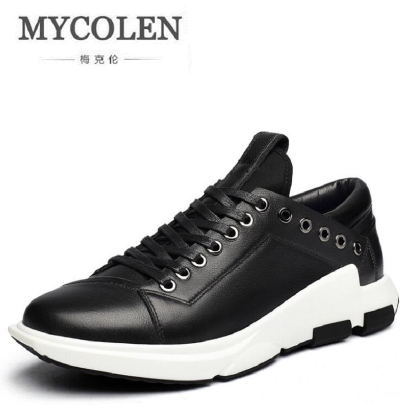 MYCOLEN New 2017 Men Leather Shoes Casual Fashion Winter Brand Ankle Boots Lace Up Men Shoes Footwear Tenis Masculino Adulto fonirra new fashion high top casual shoes for men ankle boots pu leather lace up breathable hip hop shoes large size 45 728