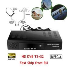 HD Digital Terrestrial Satellite receiver DVB T2 S2 TV Tuner MPEG4 DVB T2 TV Decoder T2