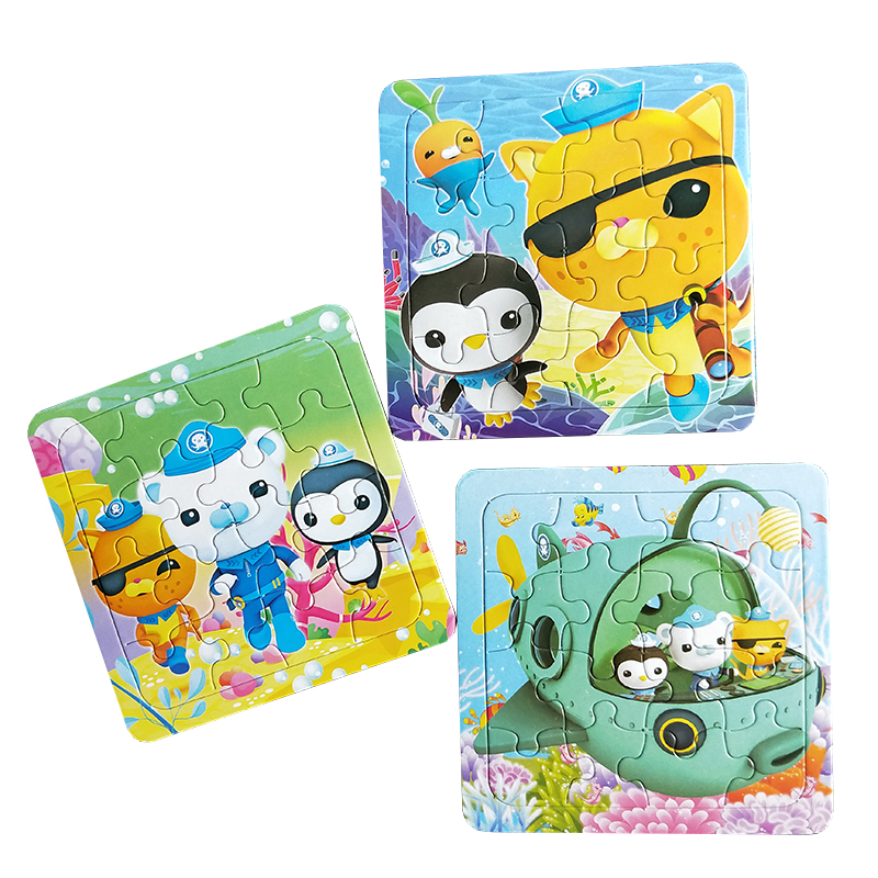 Puzzles Famous Cartoon Octonauts Educational Toy for Children Digital Paper 16PCS Puzzle ...