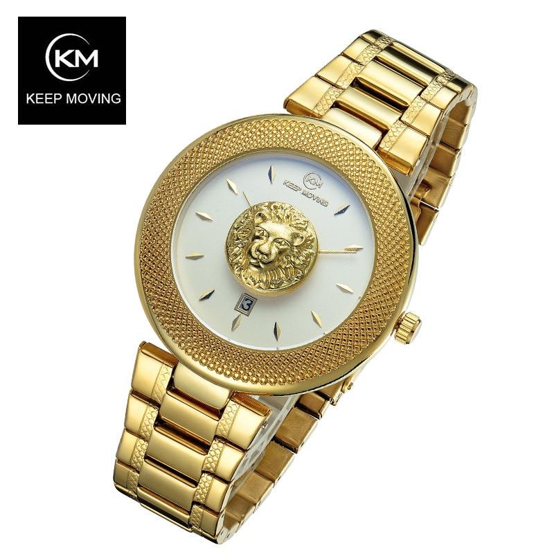Damesmode stalen horloges luxe merk vrouwtjes genève quartz klok dames goud horloge relojes mujer relogio feminino