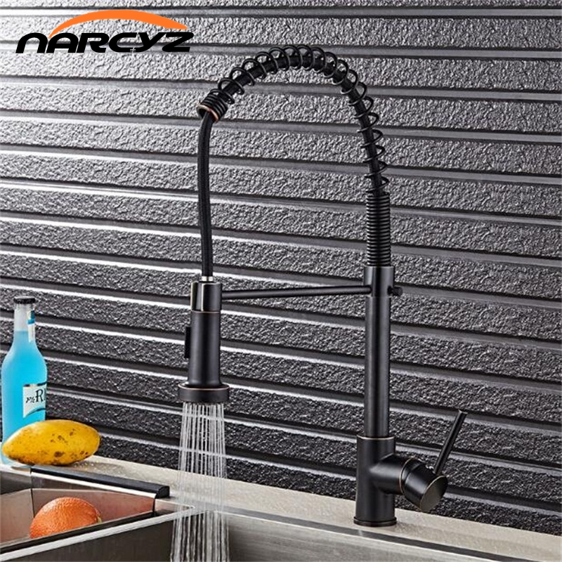Free shipping New Style ORB kitchen faucet pull down ORB kitchen mixer sink faucet pull out brushed taps for kitchen XT-79