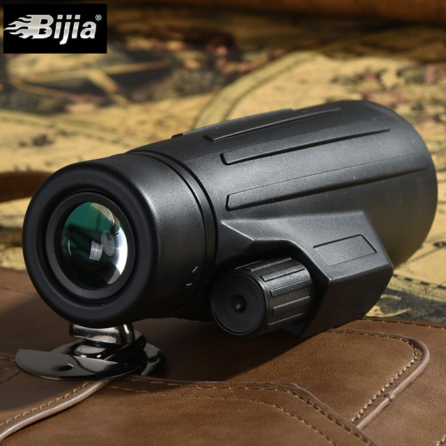 BIJIA 10x42 Monocular Quality for Hunting Telescope High Power Living Waterproof Monocular with BaK4 Prism Optics
