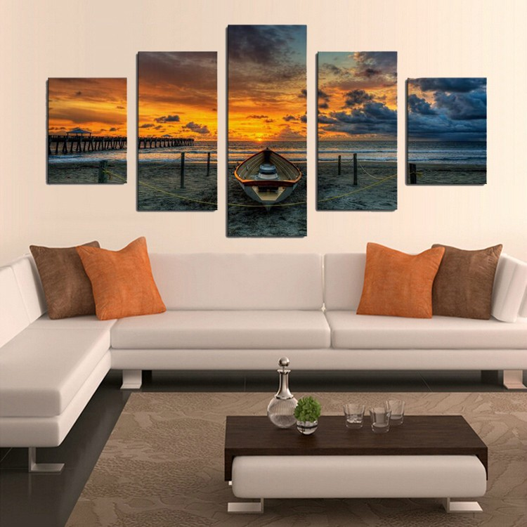 Aliexpress.com : Buy 5 Piece sunset Seaview boat Canvas ...