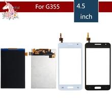 4.5 For Samsung DUOS Core 2 SM-G355H G355M G355H G355 LCD Display With Touch Screen Digitizer Sensor Replacement g garibaldi duos gradues pour 2 flutes op 145