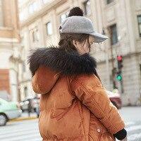 New 2017 Baby Down Jackets Children Thicken Coat Girls Winter Coat Kids Big Fur Collars Jackets