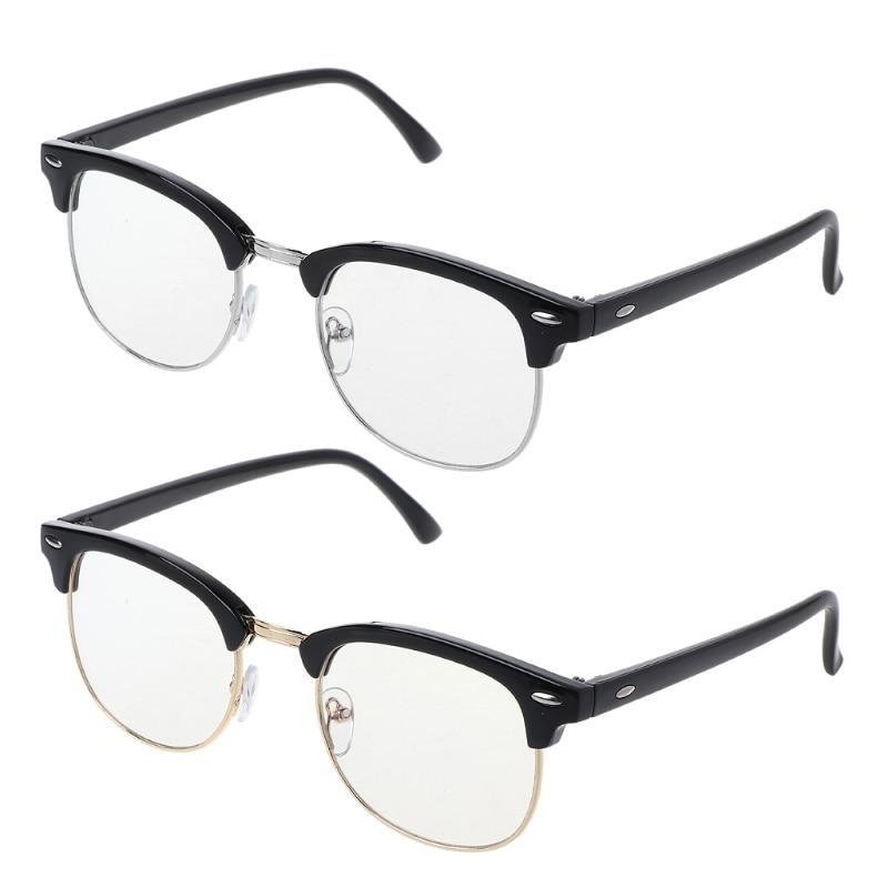 Anti-Glare Anti-UV Gaming Reading Computer Digital Screen Eye Protection Glasses Eyeglasses Frames Gold Silver Unisex