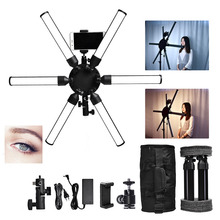 fosoto TL-900s Plus Multimedia Extreme Star Light Lamp 3200-5600K Led Ring Photographic Lighting For Camera Phone makeup