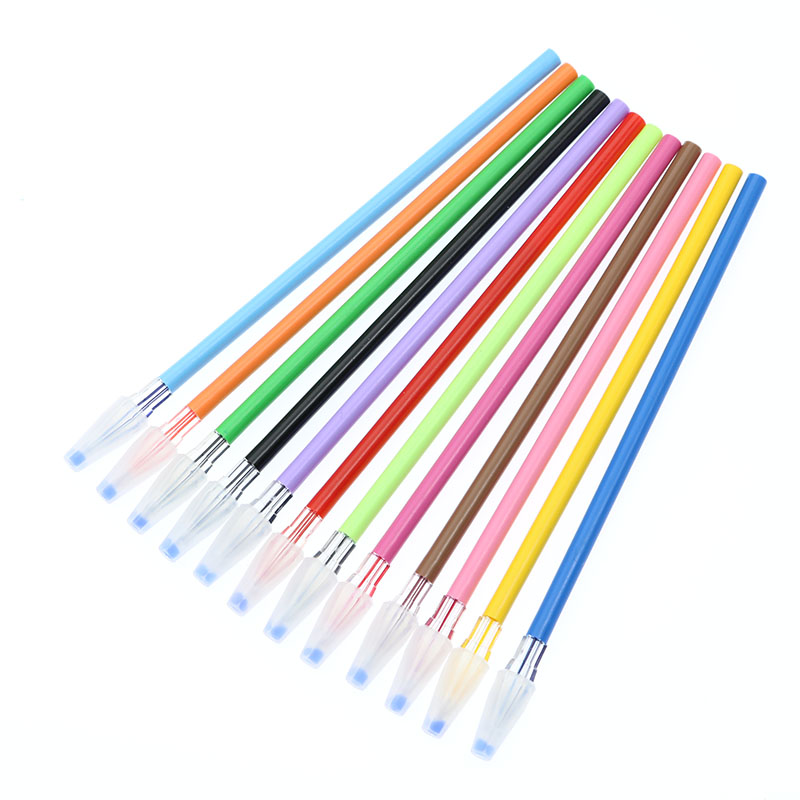 Wholesale! New 12-Color Pencil Gel Pen Fill Student Spare 12 Pen Refill Tools
