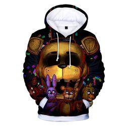 Crianças cinco noites no freddy 3d hoodies moda outono com capuz manga longa cinco noites no freddy camisolas vestuário