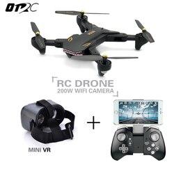 VISUO XS809S (XS809HW Atualizado) dobrável RC Drone com 720 P Grande Angular Câmera HD FPV Quadcopter Helicóptero Mini Dron otrc