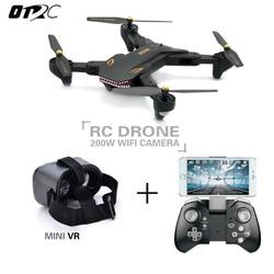 VISUO XS809S (XS809HW actualizado) Drone RC plegable con cámara HD de gran angular 720P FPV Quadcopter helicóptero Mini Dron otrc