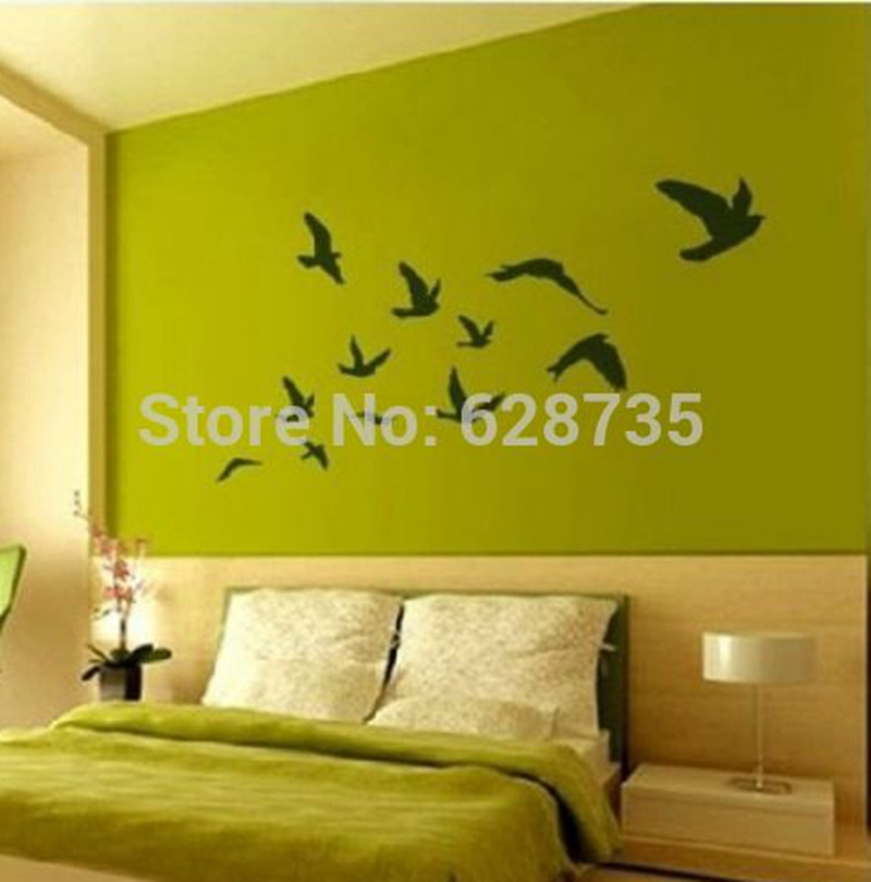 Large size Pretty Birds flying Wall Stickers Removable Art Vinyl Decoration (200CMX110CM),bird wall decals P2020 - i story store