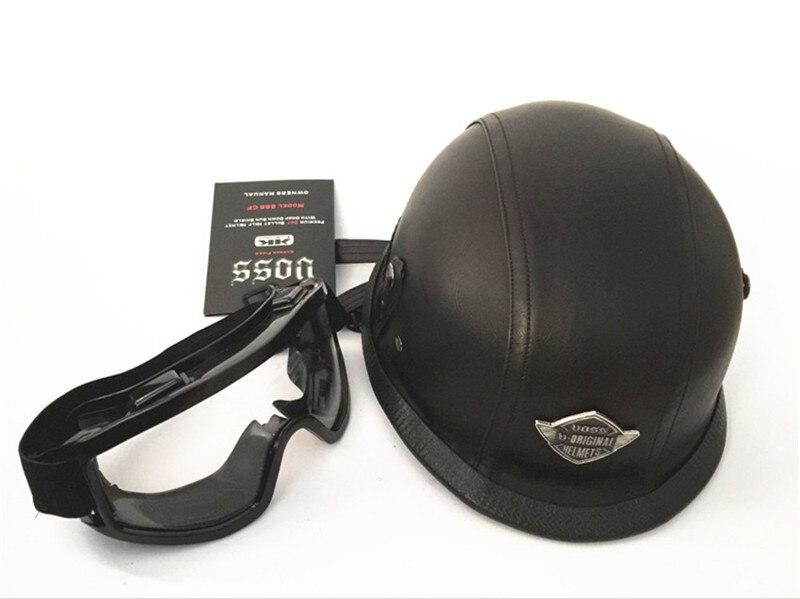 Cool VOSS Brands Harley Motorcycle Helmet Face Half Glasses Harley Four Seasons General Hat Leather Helmet