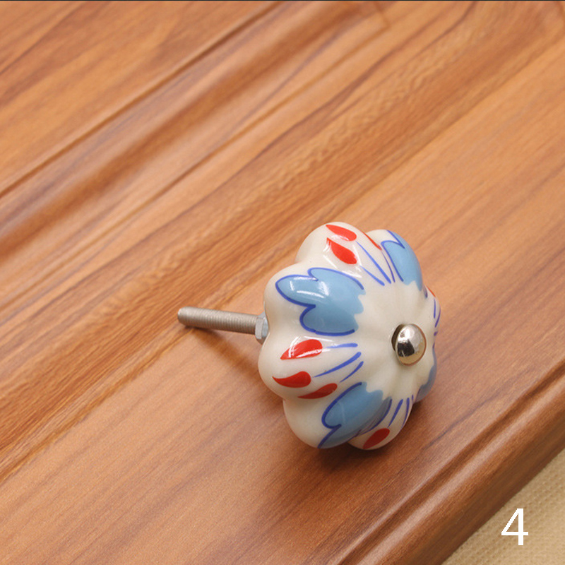 Мебельная фурнитура 40 мм ручка для мебели керамические ручки для ящиков шкафа и ручки дверный шкаф кухонные ручки - Цвет: 4