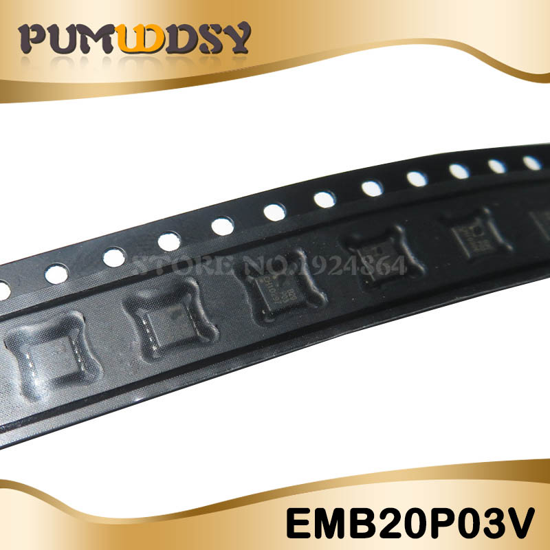 10pcs EMB20P03V EMB20P03 <font><b>B20P03</b></font> 3*3mm MOSFET QFN-8 new original free shipping image