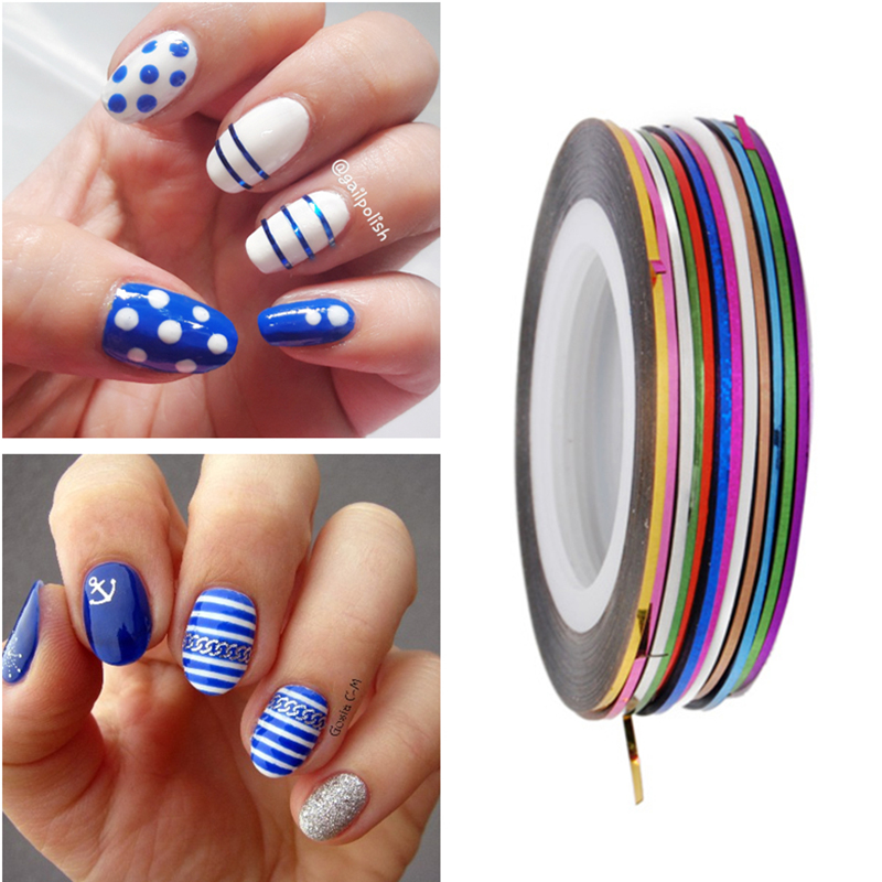 30 Colors 1mm Nail Striping Tape Line Diy Nail Art Adhesive Decal