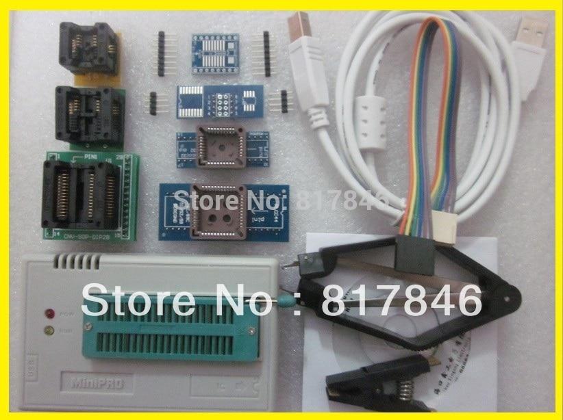 купить New XGECU V8.05 TL866II Plus TL866II Plus USB universal nand flash 24 93 25 Bios MCU PIC AVR EPROM Programmer+9 adapters по цене 4623.15 рублей