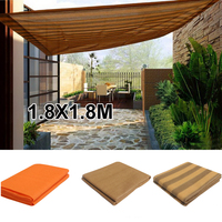 Garden Sun Shade Net Shade Sail corridor balcony hallway window door awning HDPE square 1.8X1.8M 3 Color