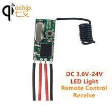 Qiachip 433 MHZ DC 12V 24V Universal Remote Kontrol Nirkabel Switch Mini Ukuran RF Relay Receiver 433.92 MHZ DIY Kit untuk Lampu LED(China)
